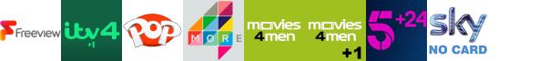 ITV4 +1, Keep It Country, Kix, More4, Movies4Men, Movies4Men +1, My5