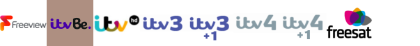 ITV Be +1, ITV HD , ITV3, ITV3 +1, ITV4, ITV4 +1, Keep It Country