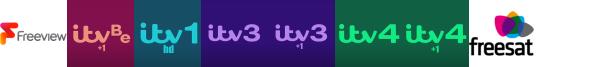 ITV Be +1, ITV HD, ITV3, ITV3 +1, ITV4, ITV4 +1, Keep It Country