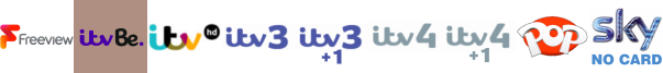 ITV Be +1, ITV HD, ITV3, ITV3 +1, ITV4, ITV4 +1, Kix