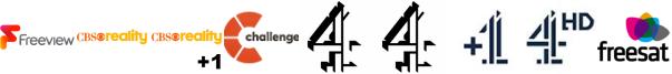 CBS Reality, CBS Reality +1, Challenge, Channel 4, Channel 4 (Wales), Channel 4 +1, Channel 4 HD