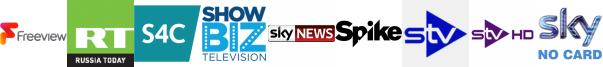 RT HD, S4C HD, ShowBiz TV, Sky News, Spike, STV, STV HD