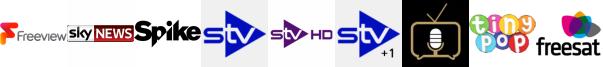 Sky News, Spike, STV, STV HD, STV+1, Talking Pictures TV, Tiny Pop