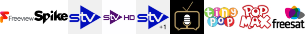 Spike, STV, STV HD, STV+1, Talking Pictures TV, Tiny Pop, Tiny Pop 1