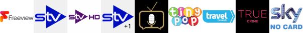 STV, STV HD, STV+1, Talking Pictures TV, Tiny Pop, Travel Channel, True Crime