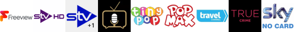 STV HD, STV+1, Talking Pictures TV, Tiny Pop, Tiny Pop 1, Travel Channel, True Crime