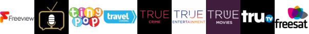 Talking Pictures TV, Tiny Pop, Travel Channel, True Crime, True Entertainment  1, True Movies, truTV