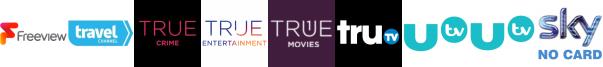 Travel Channel, True Crime, True Entertainment, True Movies, truTV, UTV, UTV HD