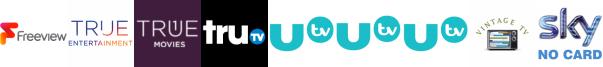 True Entertainment  1 , True Movies, truTV, UTV , UTV HD , UTV+1 , Vintage TV