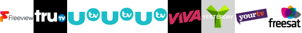 truTV, UTV , UTV HD , UTV+1 , VIVA, Yesterday, YourTV