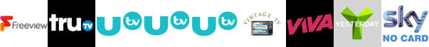 truTV, UTV , UTV HD , UTV+1 , Vintage TV, VIVA, Yesterday
