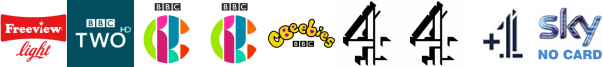 BBC Two HD, CBBC, CBBC HD, CBeebies, Channel 4 , Channel 4 (Wales) , Channel 4 +1