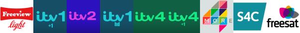 ITV +1, ITV 2, ITV HD, ITV4, ITV4 +1, More4, S4C HD