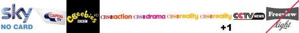 Capital TV, CBeebies HD, CBS Action, CBS Drama, CBS Reality, CBS Reality +1, CGTN