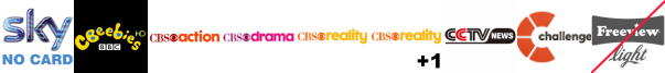 CBeebies HD, CBS Action, CBS Drama, CBS Reality, CBS Reality +1, CCTV News, Challenge