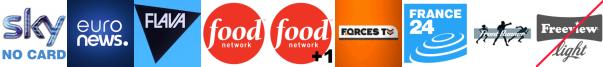 EuroNews, Flava, Food Network, Food Network +1, Forces TV, France 24, Front Runner TV