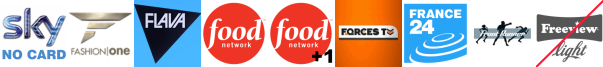 Fashion One, Flava, Food Network, Food Network +1, Forces TV, France 24 English, Frontrunner