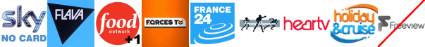 Flava, Food Network +1, Forces TV, France 24 English, Frontrunner, Heart Summer , Holiday and Cruise