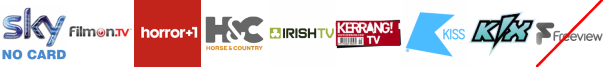Home and Leisure, Horror Channel +1, Horse and Country TV, Irish TV, Kerrang! TV, Kiss TV, Kix