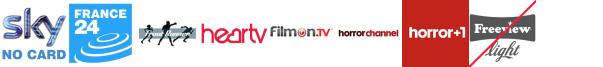 France 24, Front Runner 2, Front Runner TV, Heart TV, Home and Leisure, Horror Channel, Horror Channel +1