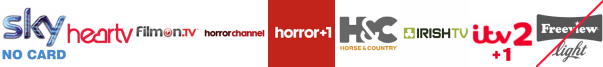 Heart TV, Home and Leisure, Horror Channel, Horror Channel +1, Horse and Country TV, Irish TV, ITV 2 +1