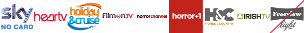 Heart TV , Holiday and Cruise, Home and Leisure, Horror Channel, Horror Channel +1, Horse and Country TV, Irish TV