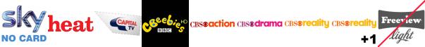 Box Upfront, Capital TV, CBeebies HD, CBS Action, CBS Drama, CBS Reality, CBS Reality +1
