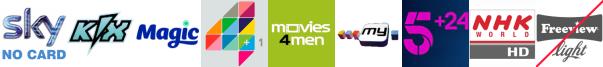 Kix, Magic, More4+1, Movies4Men, My Channel, My5, NHK WORLD HD