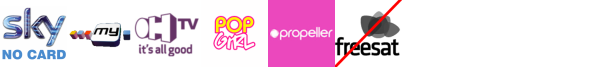 My Channel, Nollywood Movies, OH TV, Pop +1, Propeller, Property TV, Rok