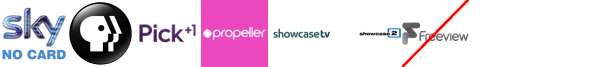 PBS America, Pick +1, Propeller, Property TV, Scuzz, Showcase TV, Showcase TV +1