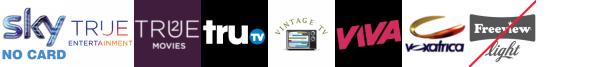 True Entertainment, True Entertainment +1, True Movies  1, truTV, Vintage TV, VIVA, Voxafrica