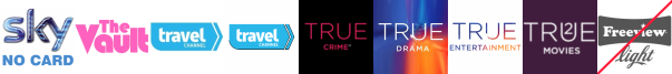 The Vault, Travel Channel, Travel Channel +1, True Crime +1, True Ent  1, True Entertainment  1 , True Movies  1