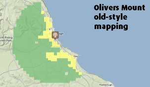 Old style Olivers mount map