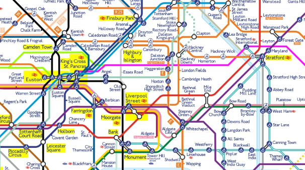 London Map With Train Stations.2050 Tube Map Free And Easy