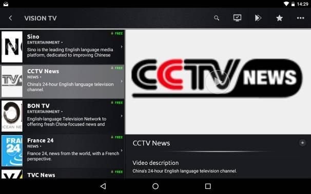 Vision TV app