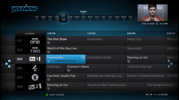 Youview Backwards EPG