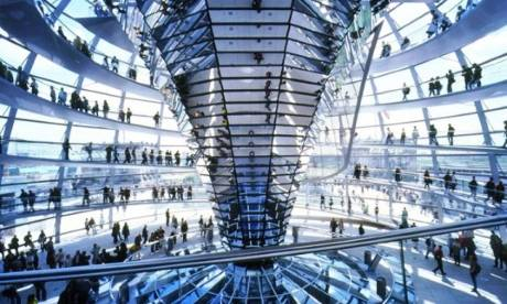 Reichstag interior  Photograph:  inhabitat.com