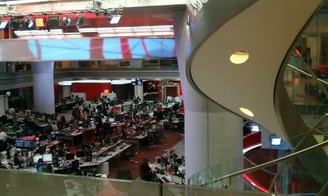 BBC News, at the heart of the New Broadcasting House  Photograph: Brian Butterworth