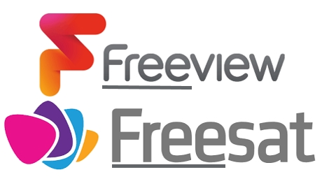 Freeview and Freesat logos  Photograph: Freeview, Freesat