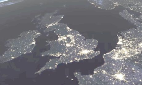 UK from space  Photograph: NASA
