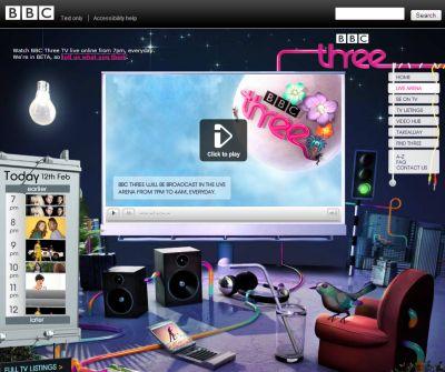 BBC three - now Flash online (beta)   free and easy